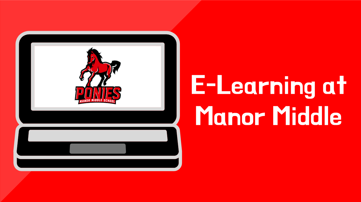 laptop, manor middle e-learning
